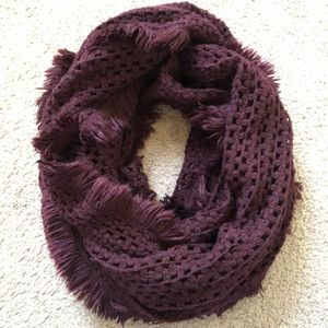 Thick Maroon Scarf